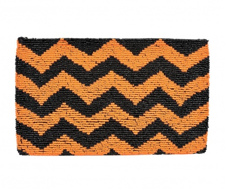 Envelope bag Orange & Black Zig Zag