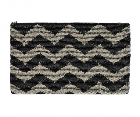 Envelope bag Grey & Black Zig Zag