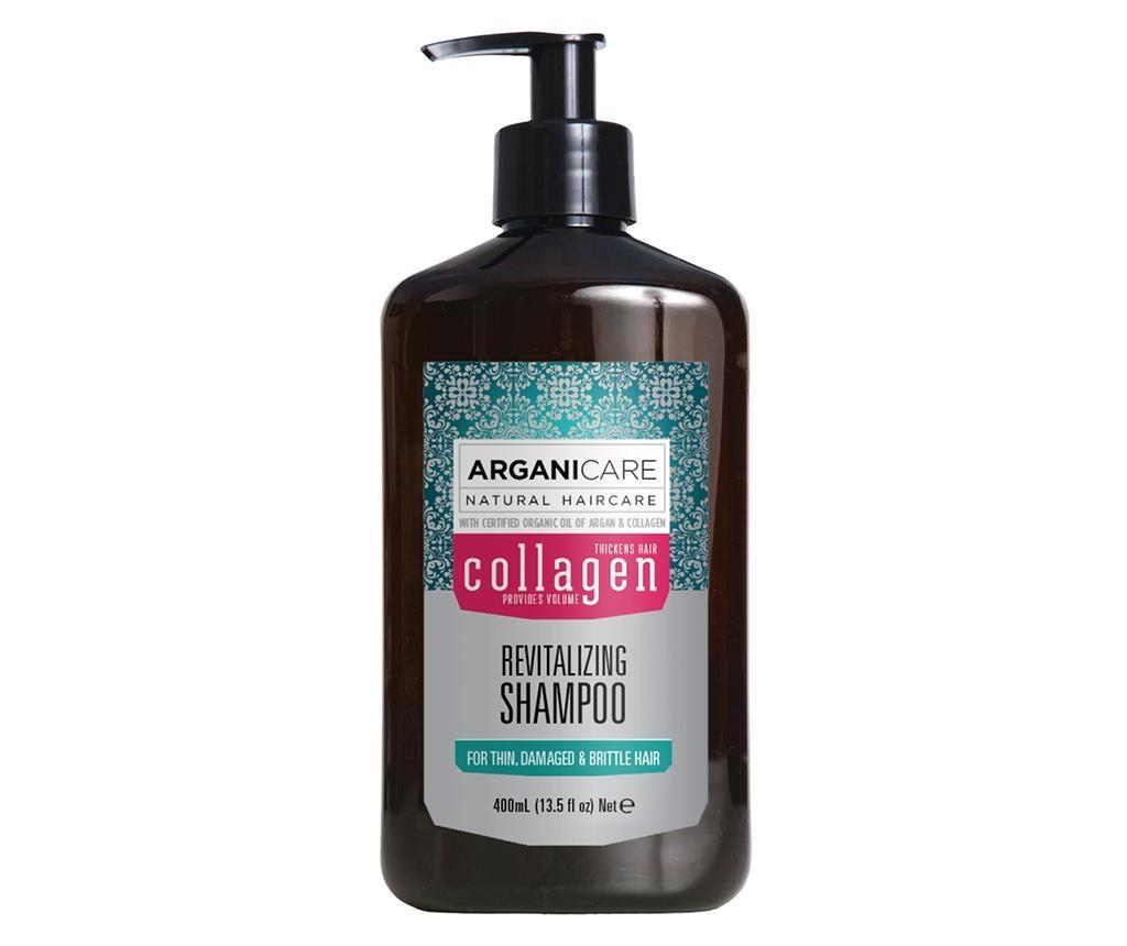 Sampon pentru par lipsit de vitalitate si tern Collagen 400 ml