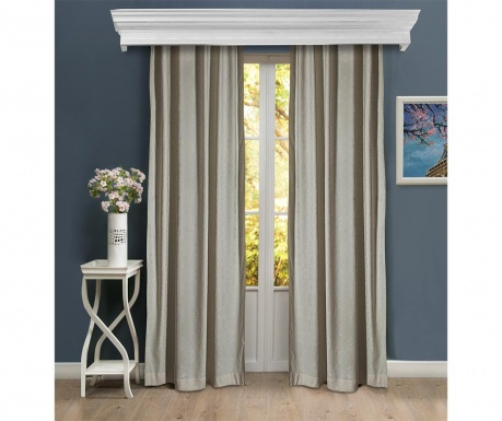 Set of 2 drapes Emmaline Cream 150x260 cm