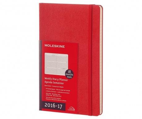 Agenda cu stickere Red Hard