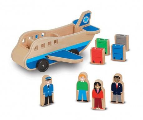 Zrakoplov igračka sa priborom i figuricama Travel