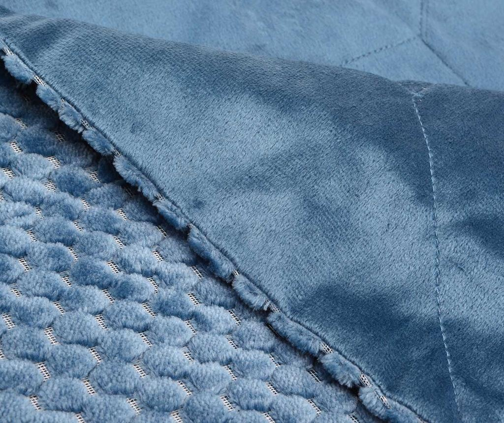 Pled Checkered Blue 130x170 cm