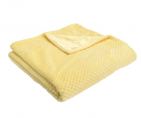 Pled Checkered Lemon 130x170 cm