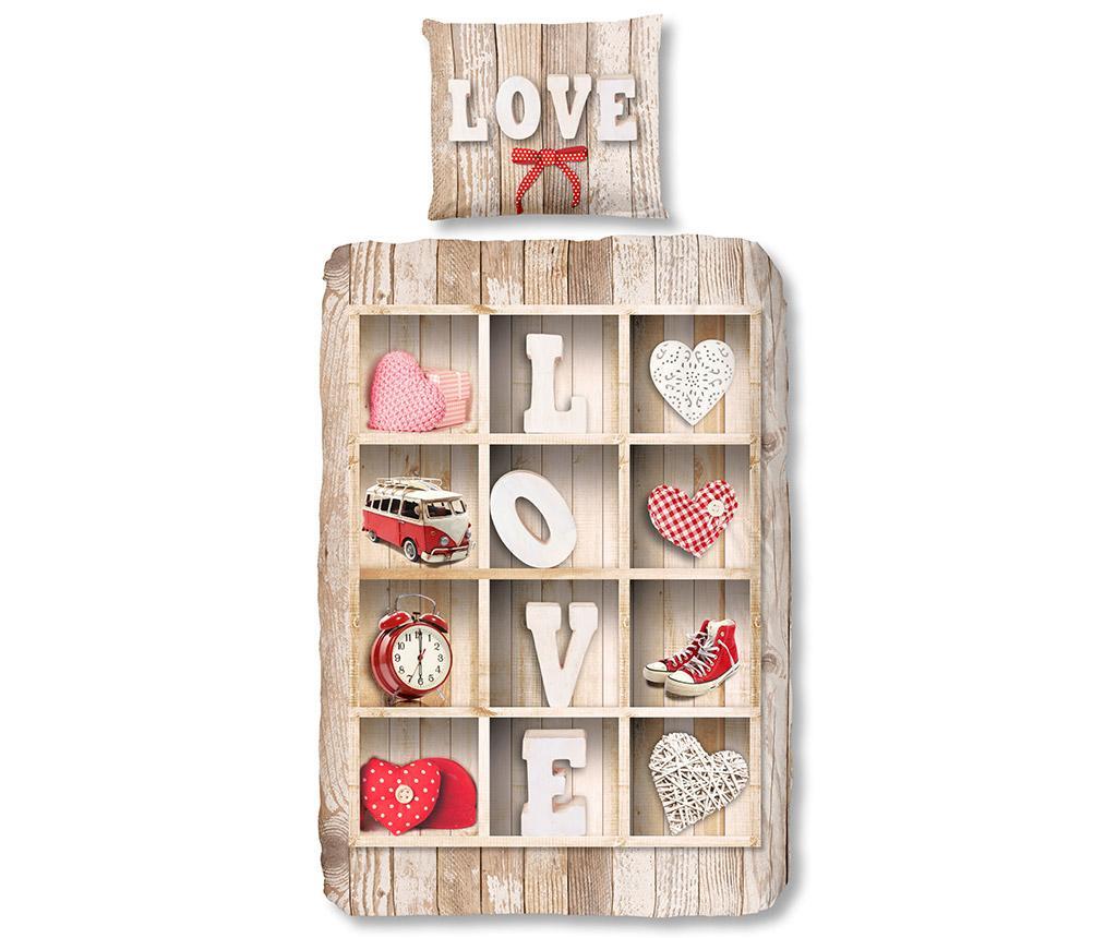 Set de pat Single Love - Good Morning, Multicolor