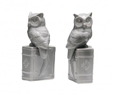Комплект 2 подпирачки за книги Owls on Books