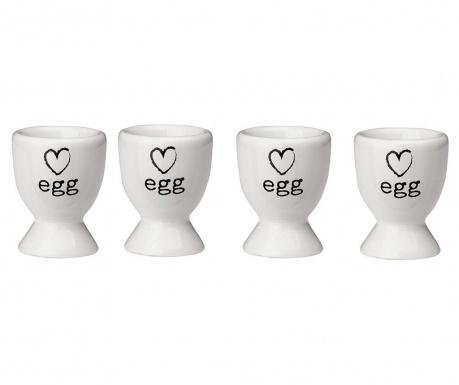 Sada 4 podstavce na varené vajce Charm