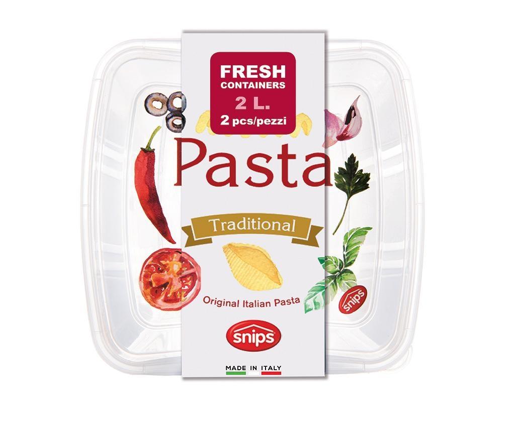 Vintage Tall Pasta 2 db Tésztatároló fedővel 2 L