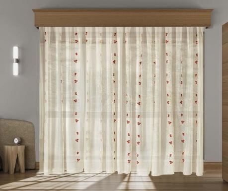 Záclona Lina Red 200x260 cm