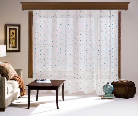 Curtain Vernie Blue 200x260 cm