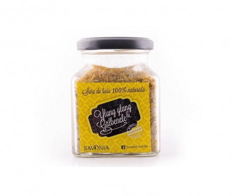 Sare de baie cu Ylang-Ylang si galbenele Savonia 250 g