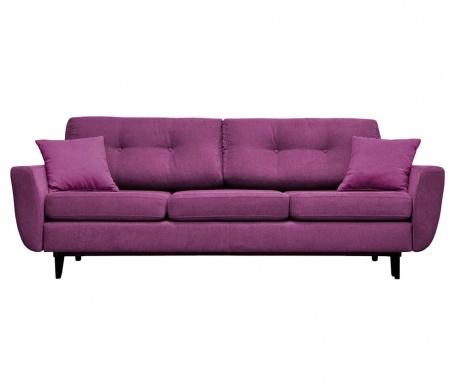 Jasmin  Purple Háromszemélyes Kihúzható Kanapé