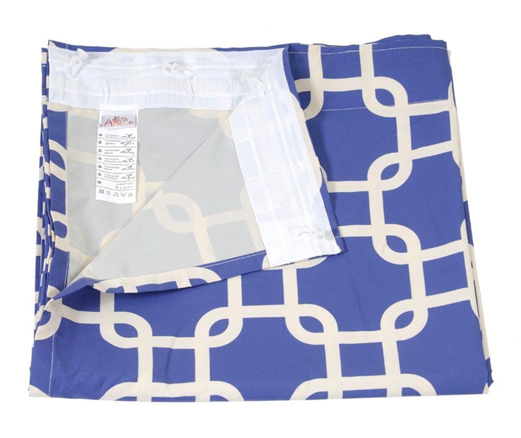 Draperie Squares Blue 140x270 cm