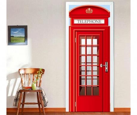 Naklejka na drzwi UK Telephone