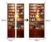 Naljepnica za vrata Vintage Bookcase