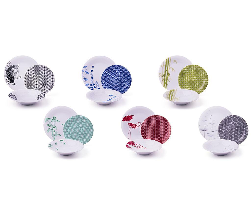 Set de masa 18 piese Magatama Multicolor - Excelsa, Multicolor