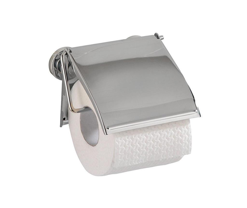 Suport pentru hartie igienica Clover - Wenko, Gri & Argintiu