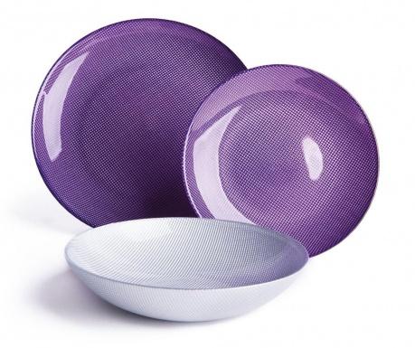 Zastawa stołowa 18 części Diamond Violet Silver