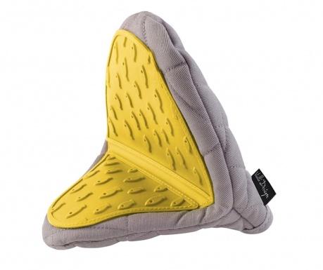 Livio Grey Yellow Konyhai fogókesztyű