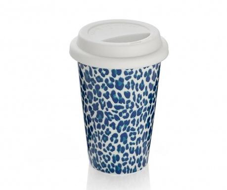 Cana de calatorie Leopard Blue 300 ml
