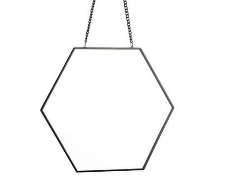 Ogledalo Hexagon Black
