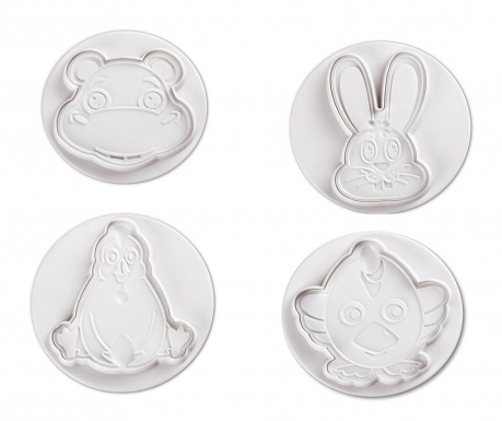 Set 4 decupatoare fondant Funny Animals