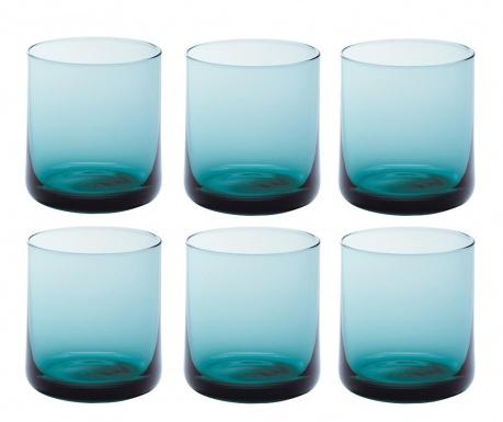Сервиз 6 чаши за вода Bloom Turqoise 250 мл