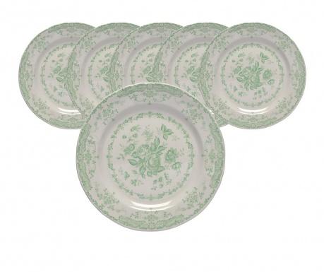 Set  6 plitkih tanjura Rosen Garden Green