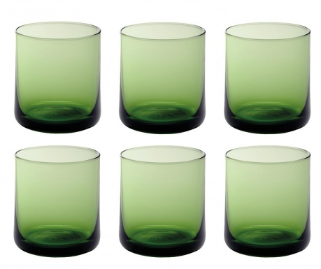 Set 6 čaša za vodu Bloom Green 250 ml