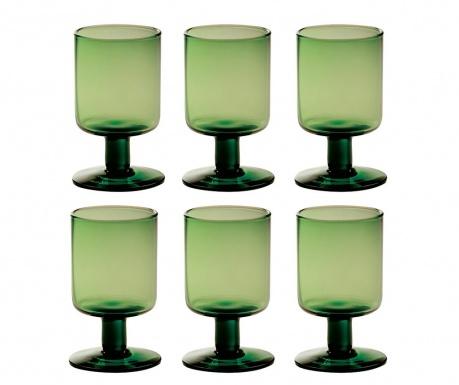 Сервиз 6 чаши за вино Bloom Green 200 мл