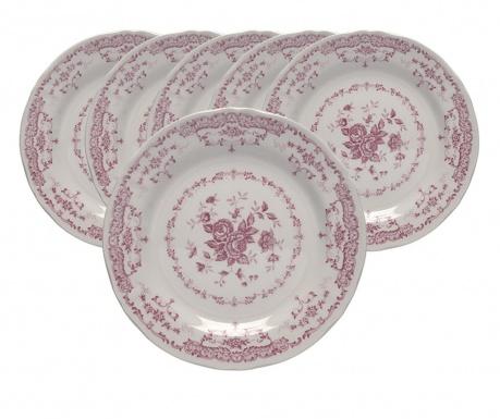 Сервиз 6 десертни чинии Roccoco Pink