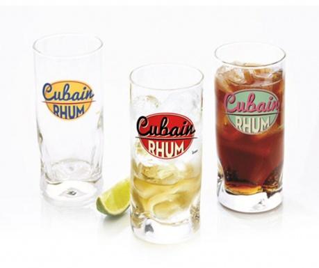 Sada 3 sklenic Cubain 290 ml