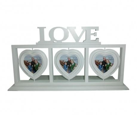 Rámik na 3 fotografie Love & Hearts