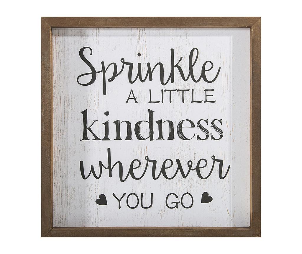 Tablou Sprinkle Kindness 32x32 cm - Eurofirany, Multicolor de la Eurofirany