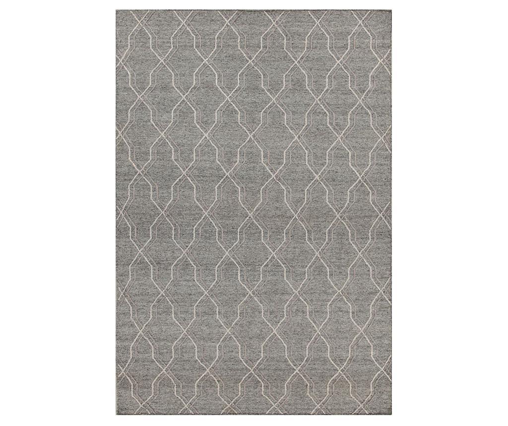 Covor Leuca 160x230 cm - Jalal, Gri & Argintiu