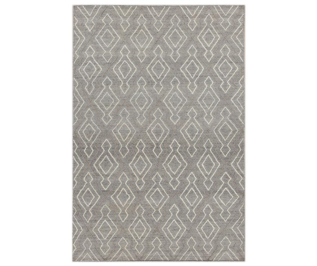 Covor Leuca Shape 200x300 cm - Jalal, Gri & Argintiu