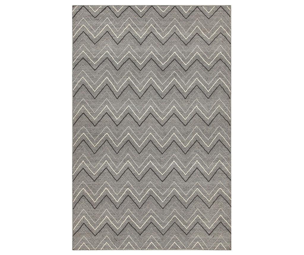 Covor Leuca ZigZag 160x230 cm - Jalal, Gri & Argintiu