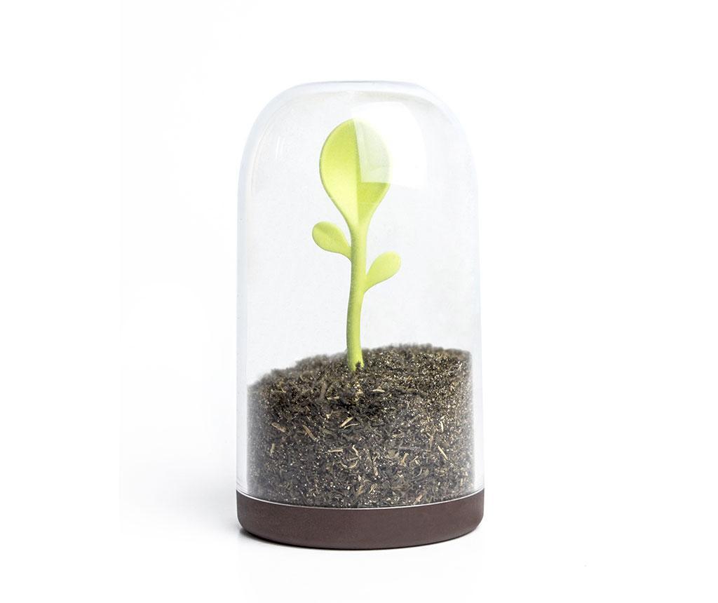 Recipient cu capac si lingurita Sprout - Qualy, Multicolor