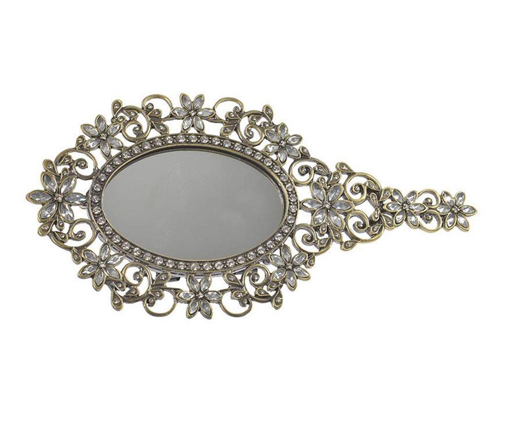 Oglinda de mana Jasmine - inart, Gri & Argintiu