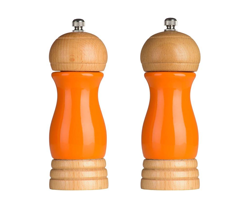 Set 2 rasnite pentru sare si piper Milo Orange - Premier, Portocaliu