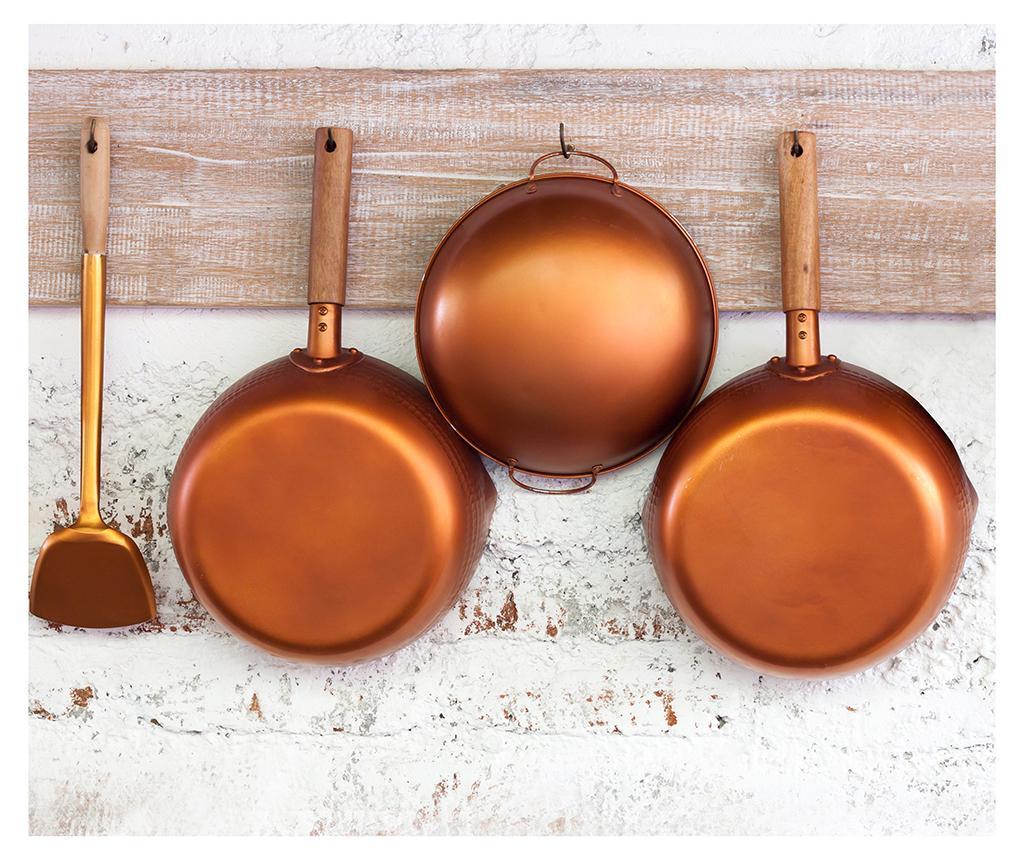 Protectie antistropire pentru aragaz Copper Pans - Wenko, Galben & Auriu