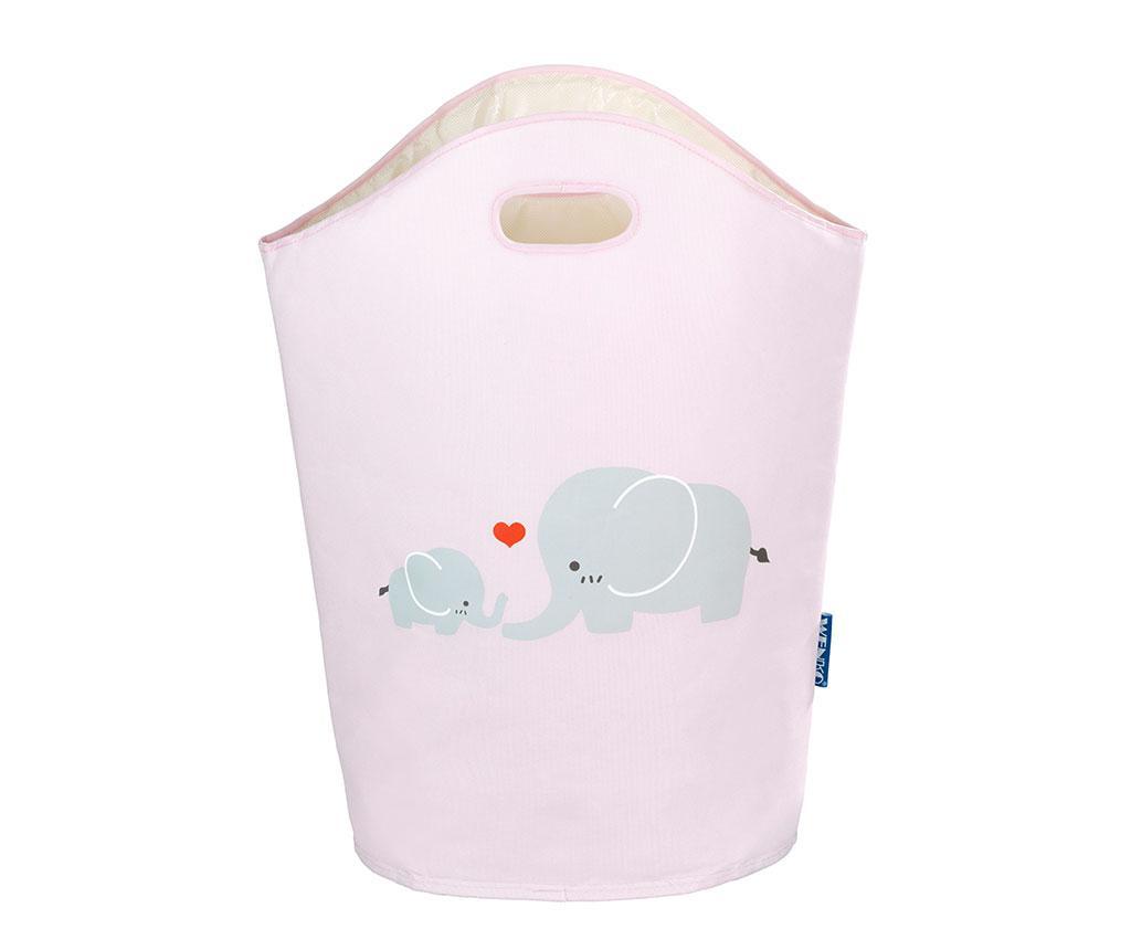Geanta pentru rufe Baby Elephant Rose 24 L - Wenko, Alb