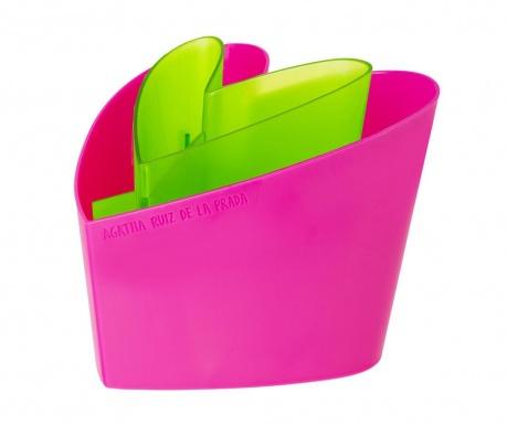 Držalo za kuhinjske pripomočke Arp Green Pink