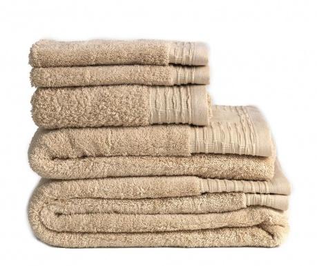 Σετ 2 πετσέτες μπάνιου Lisa Beige 30x50 cm