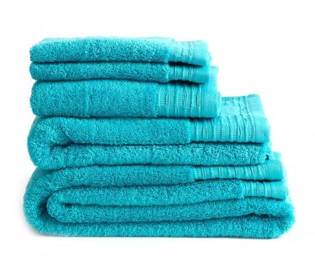 Σετ 2 πετσέτες μπάνιου Lisa Turquoise 30x50 cm