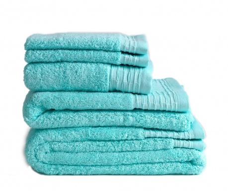 Σετ 2 πετσέτες μπάνιου Lisa Aqua 30x50 cm