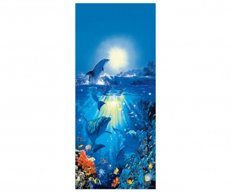 Тапет за врата Dolphin in the Sun 86x200 см