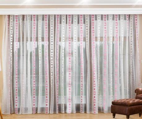 Záclona Giulia Pink 200x260 cm