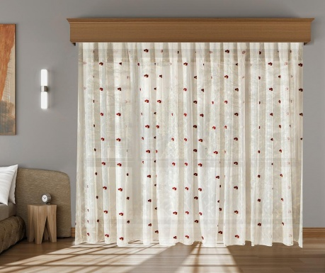 Curtain Augusta Burgundy 200x260 cm
