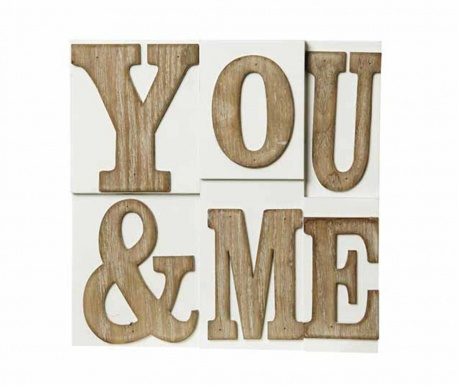 Wall decoration You and Me Block